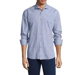 NWT Vilebrequin Collection jacquard cotton shirt